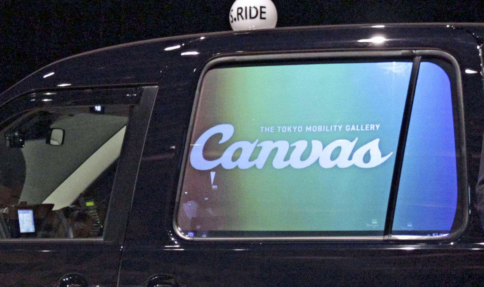 タクシー窓ガラスに広告スクリーン搭載!6月に首都圏で開始